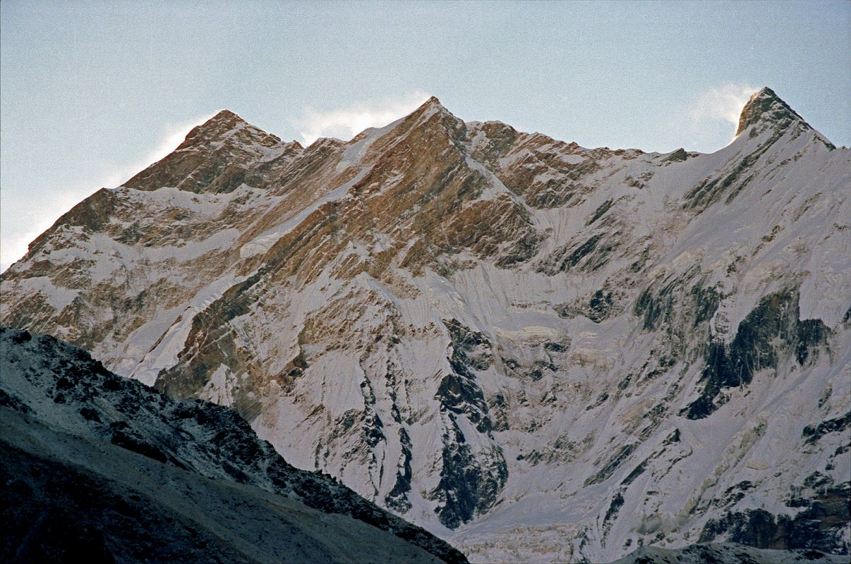 102 Annapurna Northwest Face To Fang Sunrise From Thulo ...