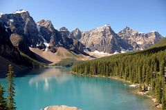 Lake Agnes With Teahouse At Far End Near Lake LouiseValley Of The Ten Peaks - Mount Little, Mount Bowlen, Tonsa Peak, Mount Perren, Mount Allen, Mount Tuzo, Deltaform Mountain, Neptuak Mountain From Rockpile Near Lake Louise