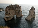 Pigeon Rocks Natural Offshore Rock Arches In West Beirut Corniche