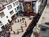 The Tiji Festival in Lo Manthang is about a deity named Dorje Jono who battles his demon father to save the Kingdom of Mustang from destruction. The demon father wreaked havoc on Mustang by bringing a shortage of water and causing many resulting disasters from famine to animal loss. Dorje Jono and his retinue perform a series of 52 magical dances to repel the resident evil. Dorje Jono eventually beats the demon and banishes him from the land. The festival takes place in the main town square in Lo Manthang.