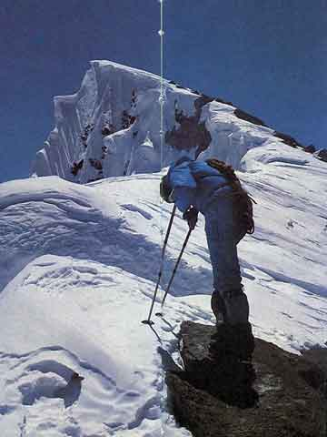 Nazir Sabir Rests Between Broad Peak Fore-Summit And Main Summit on August 2, 1982 - 3x8000 Mein grosses Himalaja-Jahr: Kangchendzoonga, Gasherbrum II, Broad Peak, Cho Oyu book