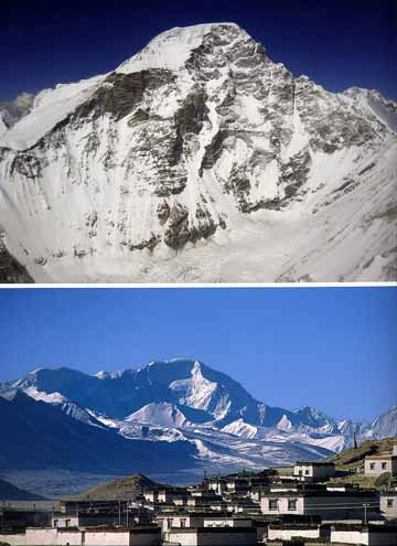Top: Cho Oyu West Face. Bottom: Cho Oyu Northwest Face From Tingri. - 8000 Metri Di Vita, 8000 Metres To Live For book