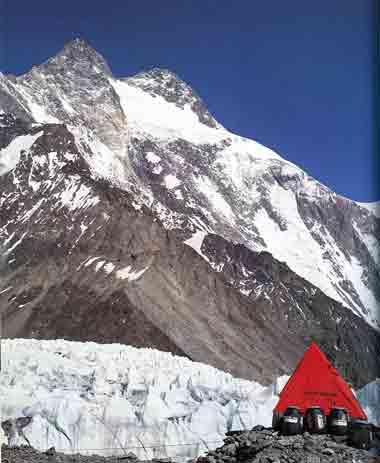 Broad Peak Central Summit And Main Summit From K2 Base Camp - All Fourteen 8000ers (Reinhold Messner) book