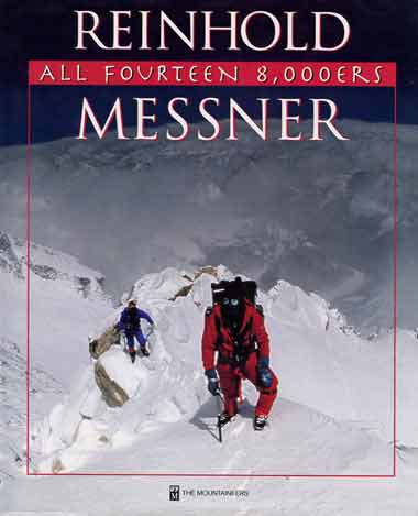 Looking down from the Northeast Ridge of Kangchenjunga - All Fourteen 8000ers (Reinhold Messner) book cover