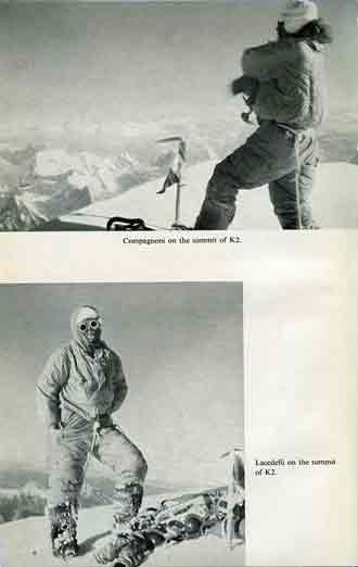 First ascent of K2: Achille Compagnoni and Lino Lacedelli on K2 summit on July 30, 1954 - Ascent Of K2: Second Highest Peak In The World book