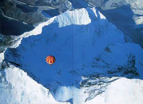 Balloon Floating Over Lhotse, Nuptse And Everest Southwest Face Oct 21, 1991 - Ballooning Over Everest book