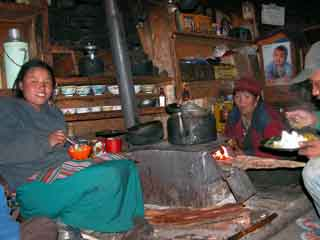 This family invited me to eat potatoes with them at Syala on my Manaslu trek