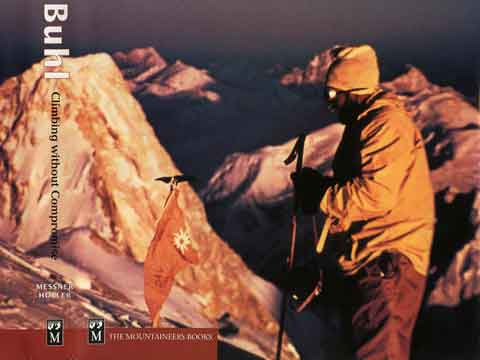 Broad Peak First Ascent - Hermann Buhl On Broad Peak Summit June 9, 1957 With Gasherbrum IV Behind - Hermann Buhl Climbing Without Compromise book