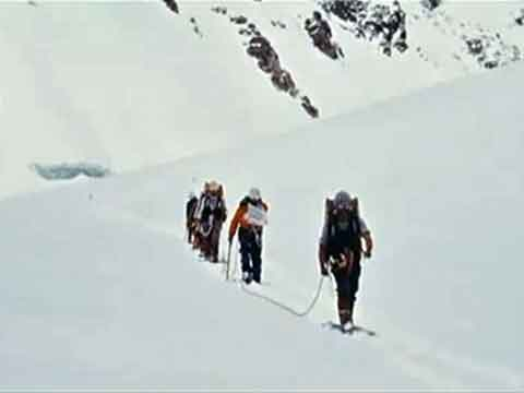 Broad Peak First Ascent Central Summit - Polish Team Climbing