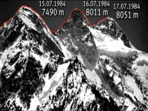 Broad Peak First Traverse Of North, Central, And Main Summits Route 1984