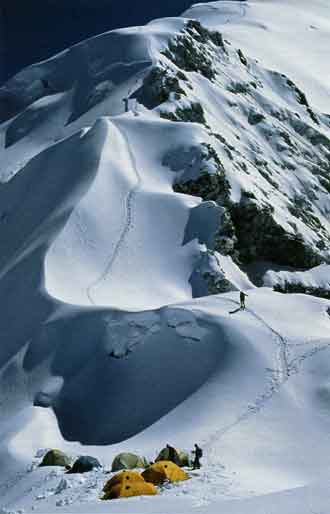 Camp II On Cho Oyu Classic Route - Climbing The Worlds 14 Highest Mountains book
