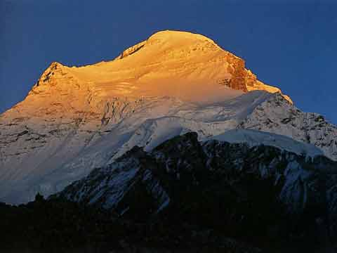 Sunset On Cho Oyu Northwest Face - Climbing The Worlds 14 Highest Mountains book