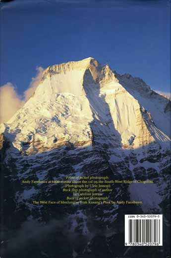 Menlungtse West Face from Kusang's Peak - Coming Through Expeditions To Chogolisa And Menlungtse back cover