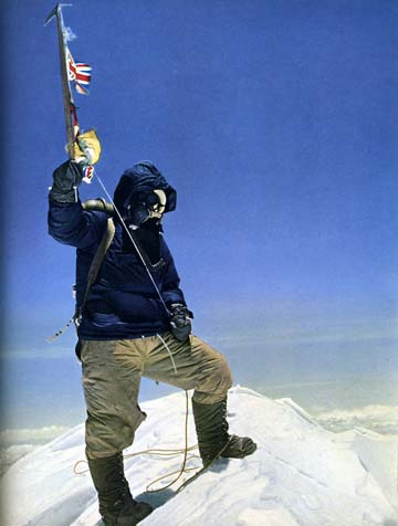 Tenzing Norgay On Everest Summit on May 29, 1953 - Everest First Ascent