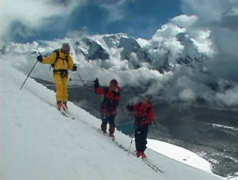 Skiing on lower portion of Shishapnagma in 1999 - Shishapangma (and Himalaya): North Face Expeditions Volume 3 DVD