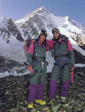 Gary Ball And Rob Hall At K2 Base Camp 1992 - Hall and Ball book