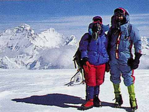 Jan Arnold And Rob Hall On Cho Oyu Summit October 5, 1994 - Hall and Ball book