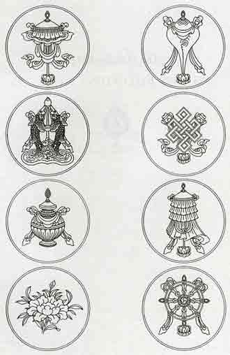 The Eight Auspicious Symbols - Handbook of Tibetan Buddhist Symbols book