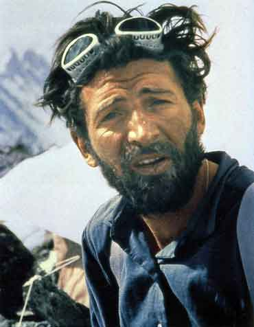 Kurt Diemberger photo of Hermann Buhl After Climbing Broad Peak June 1957 - Hermann Buhl Climbing Without Compromise book