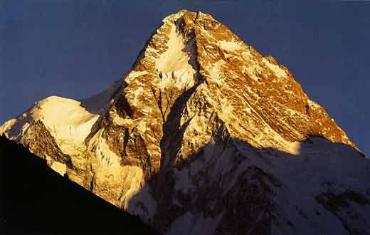 K2 North Face at sunset - Himalaya Alpine Style: The Most Challenging Routes on the Highest Peaks book