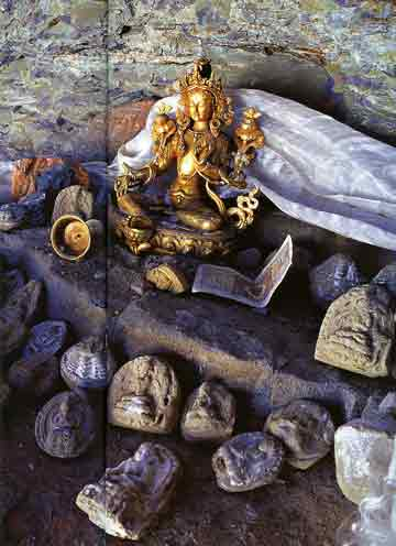 Golden Tara Statue At Foot Of Kailash South Face - Himalaya The Secret Of The Golden Tara By Dieter Glogowski book