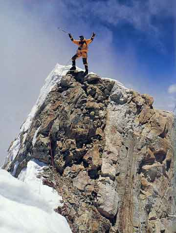 Veikka Gustafsson On Manaslu Summit April 22, 1999 - Himalayan Quest: Ed Viesturs on the 8,000-Meter Giants book