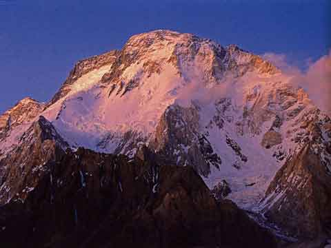 Broad Peak Trekking Guidebook - Broad Peak Sunset From Concordia - Himalayan Trails (Sentiers de l'Himalaya) book