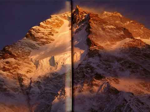 K2 North Face At Sunset - K2: A Challenge To The Sky book