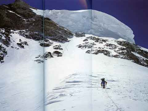 The Great Serac Towers Over The Traverse And Bottleneck - K2: Challenging the Sky book