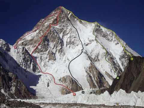 K2 First Ascent North Ridge Route 1982 - K2 A Challenge To The Sky book
