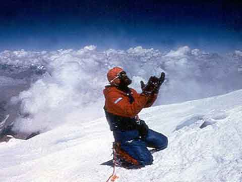 K2 West Face First Ascent Route by Japanese 1981 - Nazir Sabir On K2 Summit August 7, 1981