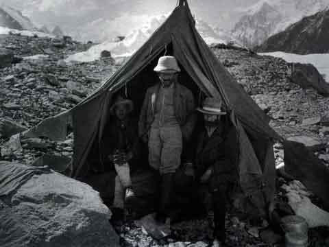 K2 Italian Attempt 1909 - Federico Negrotto, Fillipe De Filippi And Vittorio Sella At Concordia - K2 A Challenge To The Sky book