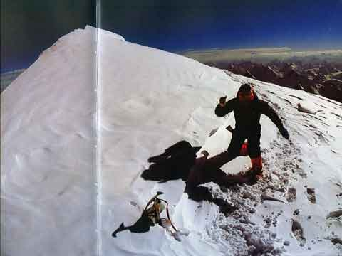 Feeling I am being urged beyond the horizon, my dog-tired body grows light - Reinhold Messner running around K2 summit on July 12, 1979 'Feelingh - K2: Mountain Of Mountains book