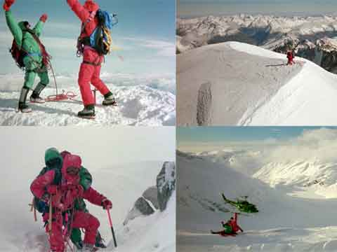 On The Summit, Dragging His Friend Down With A Broken Leg, Helicoptewr Rescue - K2: The Ultimate High DVD