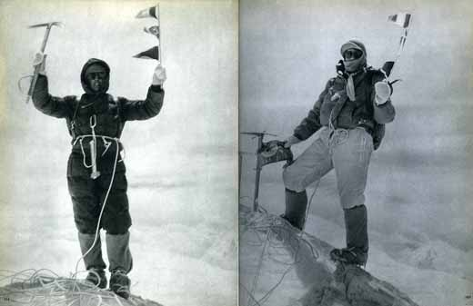 Walter Bonatti and Carlo Mauri on Gasherbrum IV Summit First Ascent August 6, 1958 - Karakoram The Ascent Of Gasherbrum IV book
