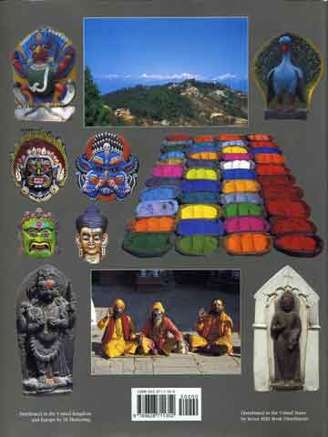 Various Kathmandu photos - The Kathmandu Valley: Amazing Sights and Colours of Asia book back cover