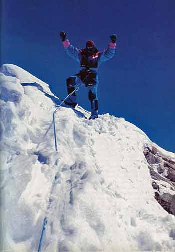 Juanito Oiarzabal on Manaslu Summit October 8, 1997 - Los 14 Ochomiles de Juanito Oiarzabal book