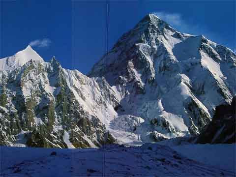 Angelus Peak And K2 From Broad Peak Base Camp - Los Ochomiles: Karakorum e Himalaya book