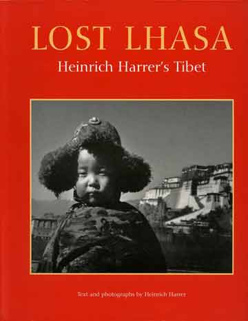 The young Ngari Rinpoche, the Dalai Lama's youngest brother with Potala Palace in background - Lost Lhasa book cover
