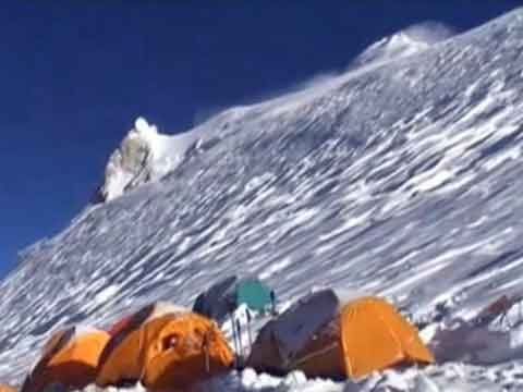 Manaslu Eastern Pinnacle And Main Summit From High Camp - Manaslu Youtube Video by Kinga Baranowska