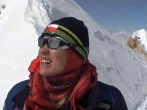 Kinga Baranowska Near Manaslu Summit Oct 5, 2008 - Manaslu Youtube Video by Kinga Baranowska