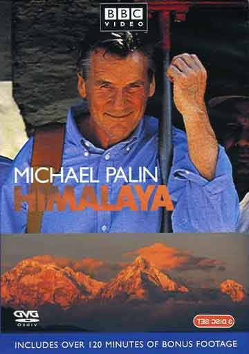 Michael Palin on Khyber Pass Railway and Annapurna, Annapurna South and Hiunchuli from Lekhani - Michael Palin Himalaya DVD cover