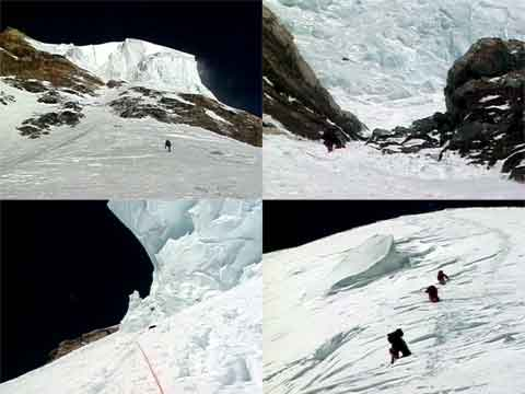 Climbing The Bottleneck, Traverse, And K2 Summit Snowfield July 30, 2000 - Murph Goes to K2 DVD
