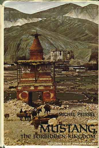 Tsarang entrance chorten with old dzong beyond in 1964 - Mustang: A Lost Tibetan Kingdom book cover