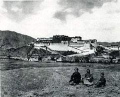 Alexandra David-Neel in front of Potala Palace - My Journey to Lhasa book