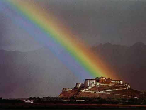 Rainbow over Potala Palace - My Tibet (Galen Rowell) book