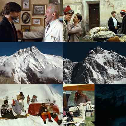 Reinhold Messner Meets Karl Herrligkoffer to join Nanaga Parbat 1970 Expedition, Reinhold And Gunther Messner Leave Home, Nanga Parbat Rupal Face, Reinhold Talks To Karl On Phone, Mistaken Red Flare - Nanga Parbat: Zwei Bruder. Ein Berg. Ihr Schicksal. DVD