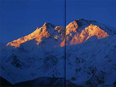 Nanga Parbat Rahkiot Face At Sunset - Nanga Parbat: La Montagna Nuda book
