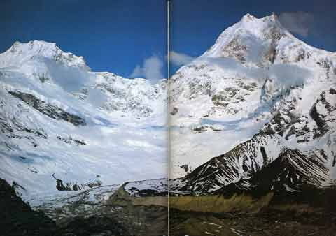Manaslu and Ngadi Chuli (Peak 29) From Punggyen Glacier - Nepal Himalaya by Shiro Shirahata book