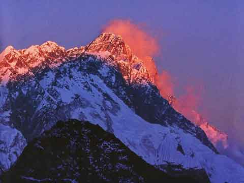 Everest, Nuptse, Lhotse Sunset From Gokyo Ri - Nepal: Kathmandu Valley, Chitwan, Annapurna, Mustang, Everest (Lonely Planet Pictorial) book